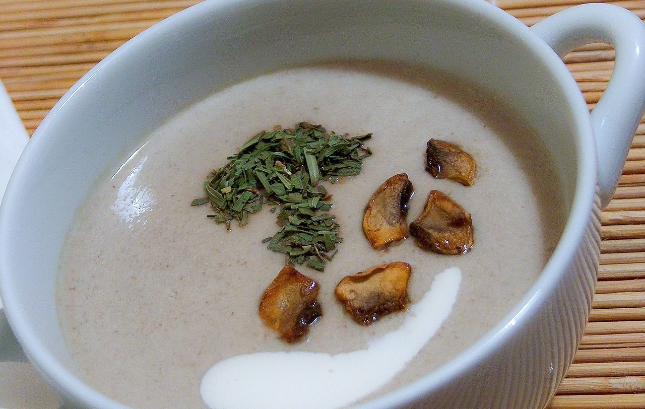 Грибной суп-пюре © Изображение Zozz с сайта pixabay.com