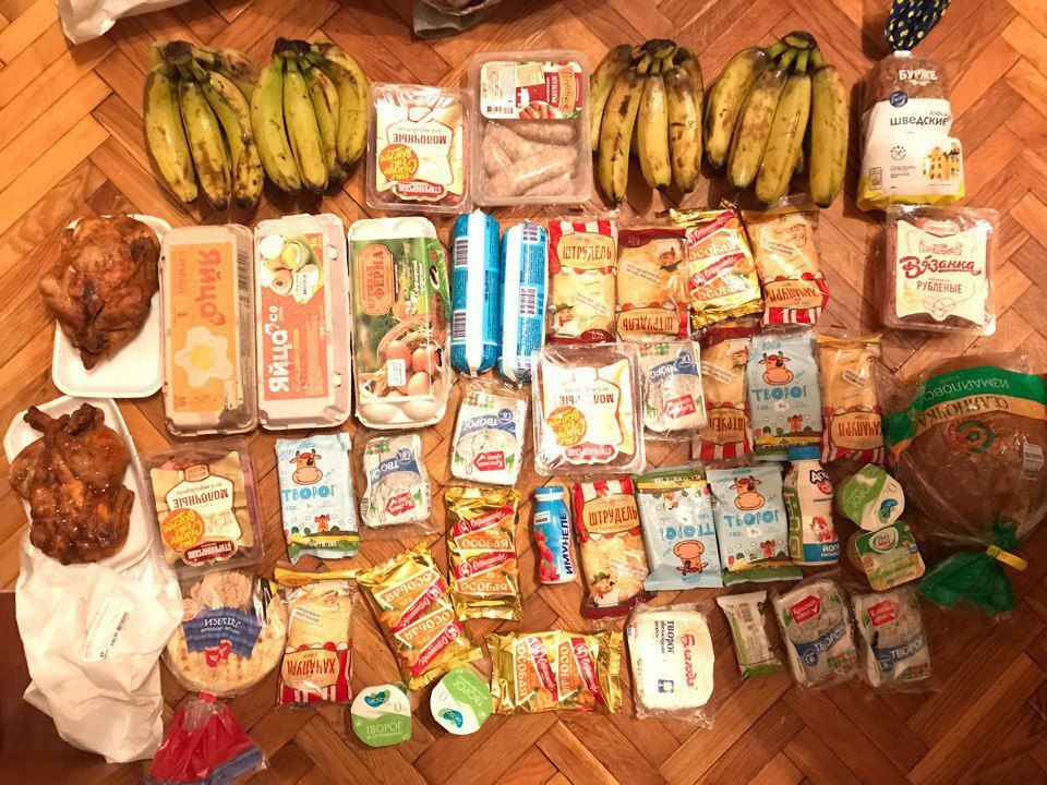 Пригодная к употреблению еда, найденная Михаилом на мусорке
