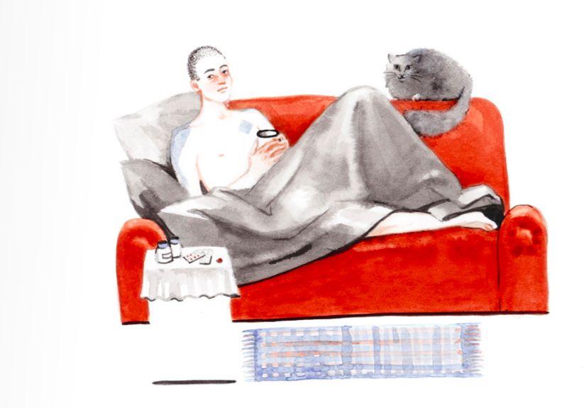 Иллюстрация из брошюры «Ты и туберкулез»