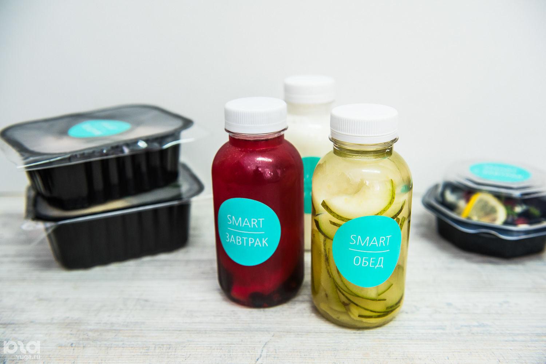 Готовые к доставке блюда и напитки рационов Smartfood