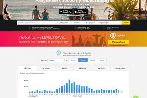 Главная страница сайта Level.Travel ©Сайт Level.Travel