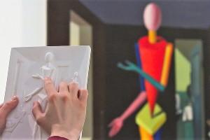 Рельефная гипсовая копия картины для слабовидящих и незрячих людей ©Фото предоставлено Музеем современного искусства «Гараж»