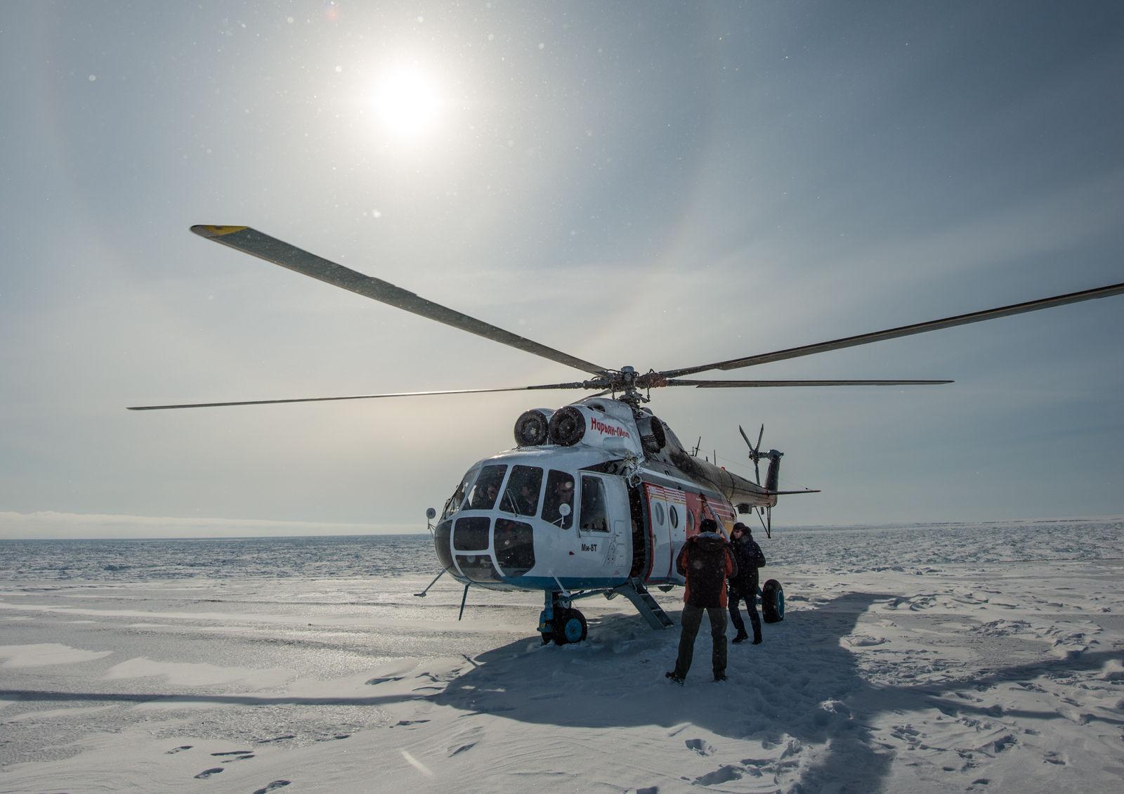 Транспортировка на о. Вайгач на вертолете