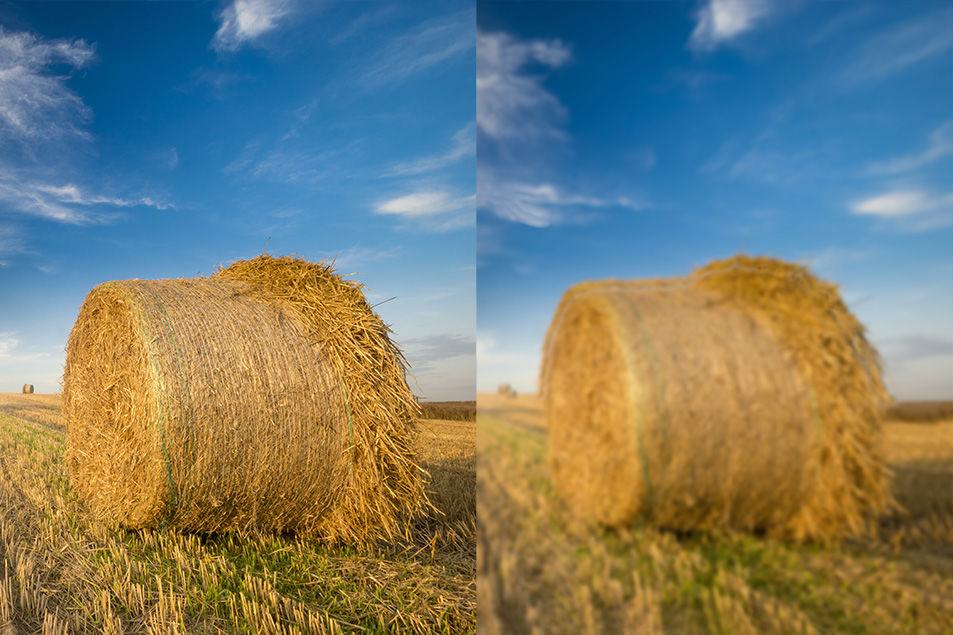 На картинке выше приведены примеры того, как видит здоровый глаз и как видит глаз с астигматизмом. Пример справа — типичное проявление искажения изображения при астигматизме.