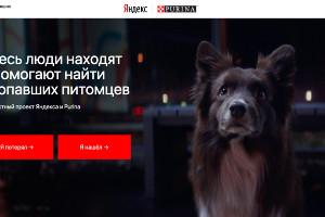Скриншот главной страницы сайта yandex.ru/petfinder ©Юга.ру