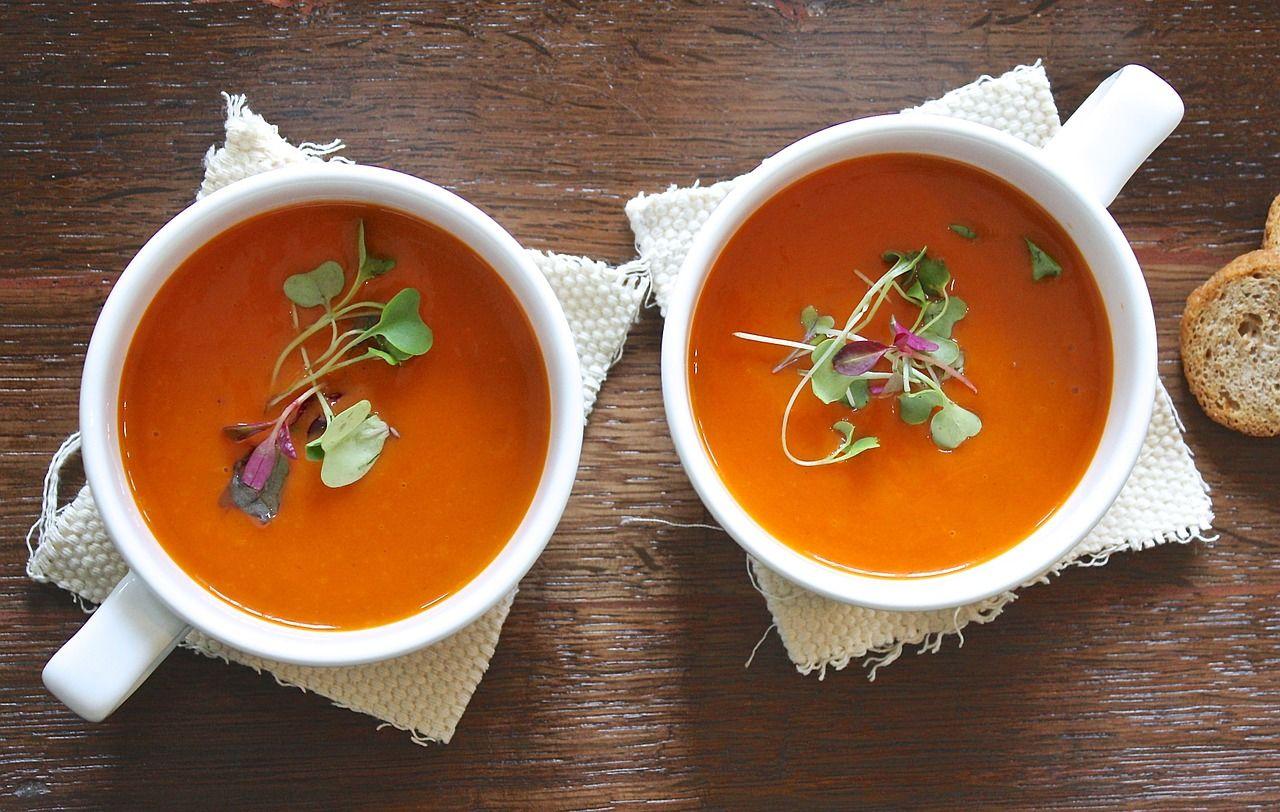 Томатный суп-пюре © Изображение Aline Ponce с сайта pixabay.com