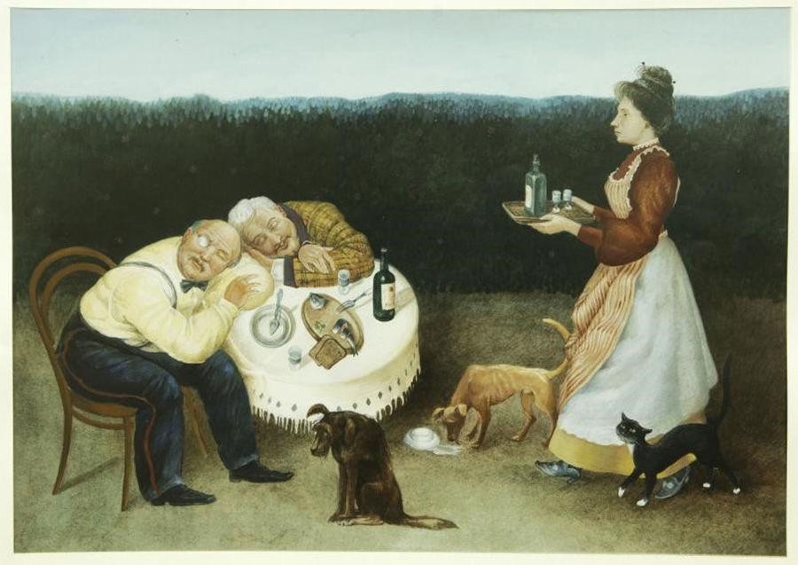 © Иллюстрация к рассказу Чехова «Сирена», wikipedia.org