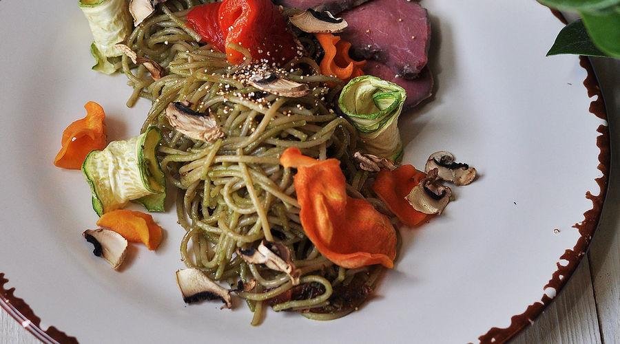 Спагетти из полбы © Фото предоставлено кафе-маркетом «Хорошая еда»
