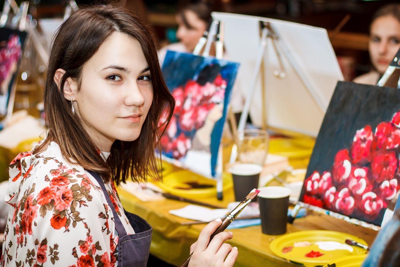Вечеринка с уроком живописи © Фото предоставлено организаторами